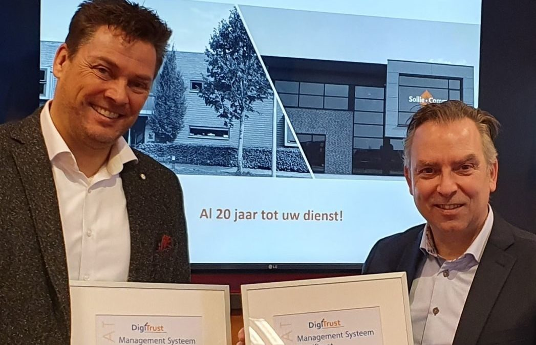 Sollie.Comm is ISO 9001 en ISO 27001 gecertificeerd